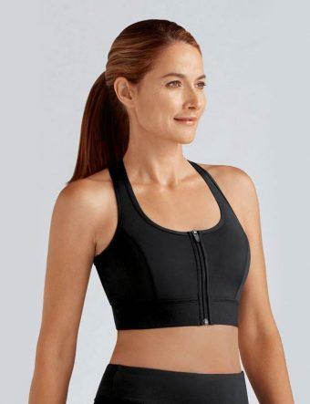 amoena zipper sports bra medium support