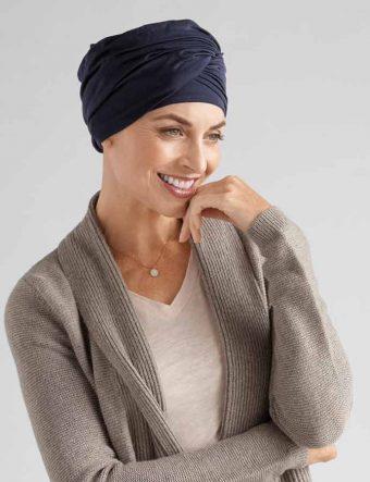 Amoena Daylily Knit Turban - night blue