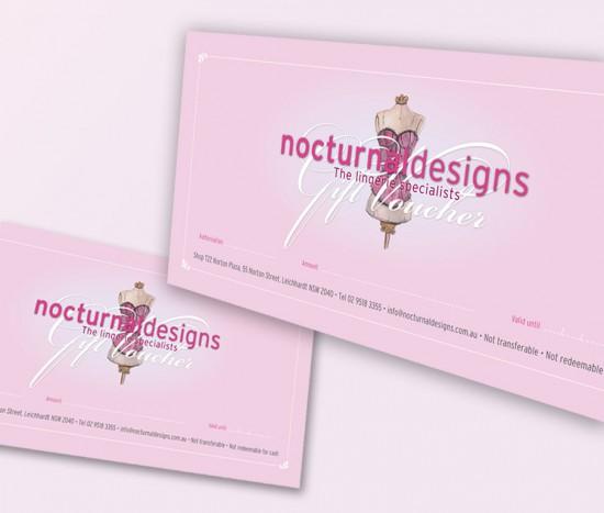 nocturnal designs gift voucher